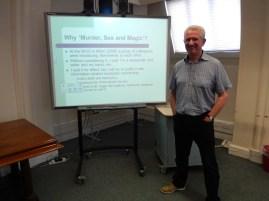 Paul Sturges' Murder, Sex and magic presentation