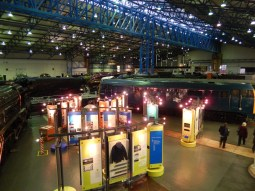 Trains and displays by night
