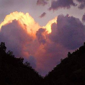 heart with clouds
