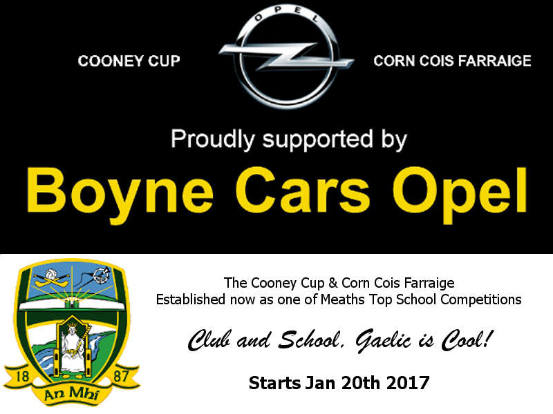 Cooney Cup & Corn Cois Farraige Start January 20th