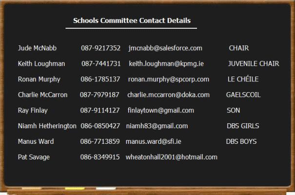Schools contacts
