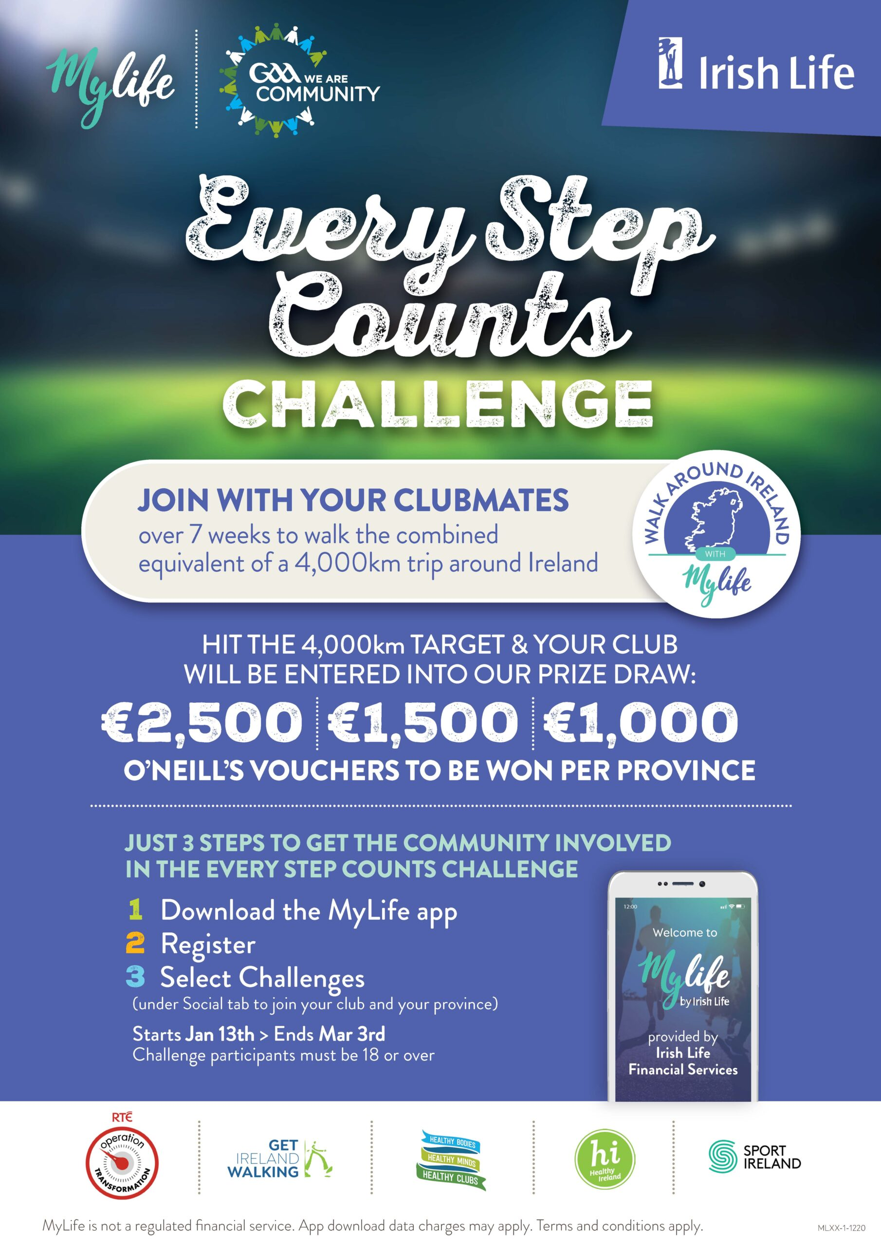 January Step Challenge With St. Colmcilles