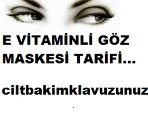 E vitaminli gözaltı maskesi