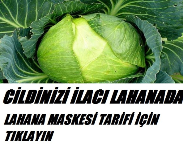 Cildiniz ilacı lahana