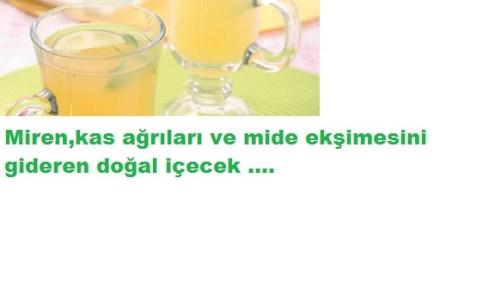 migren kas ağrılarını gideren içecek