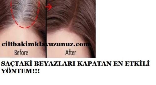 saçtaki beyazları kapatan en etkili yöntem