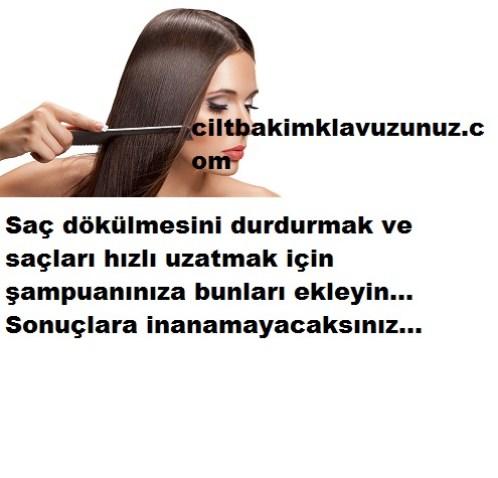 saç dökülmesini durdurmak ve hızlı uzatmak için şampuanınıza bunları ekleyin