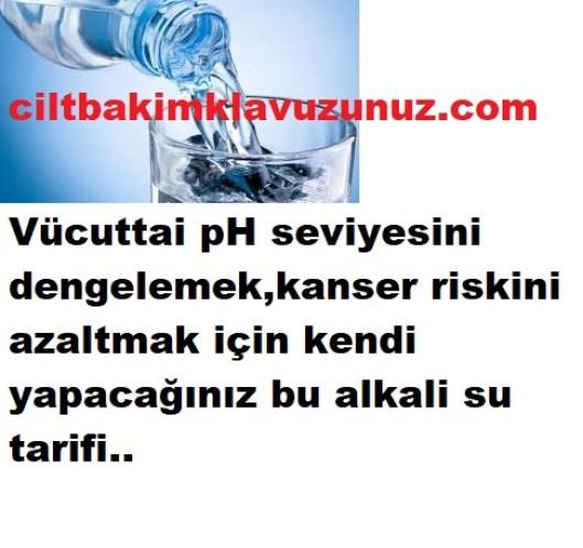 pH seviyenizi dengeleyecek alkali su tarifi
