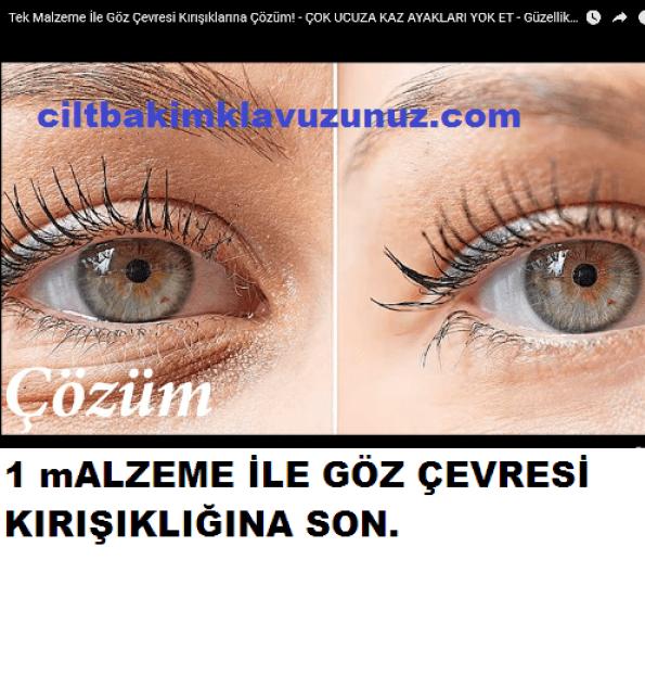 Göz Çevresi Kırışıklığını 1 Malzeme ile Yok Edebilirsiniz