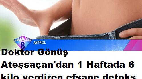 Doktordan 1 Haftada 6 Kilo Verdiren Detoks Tarifi
