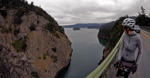Looking back over Deception Pass on our way to Mount Vernon