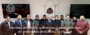 Grupo De Revisión del anteproyecto de la NOM-001-SEDE-2018