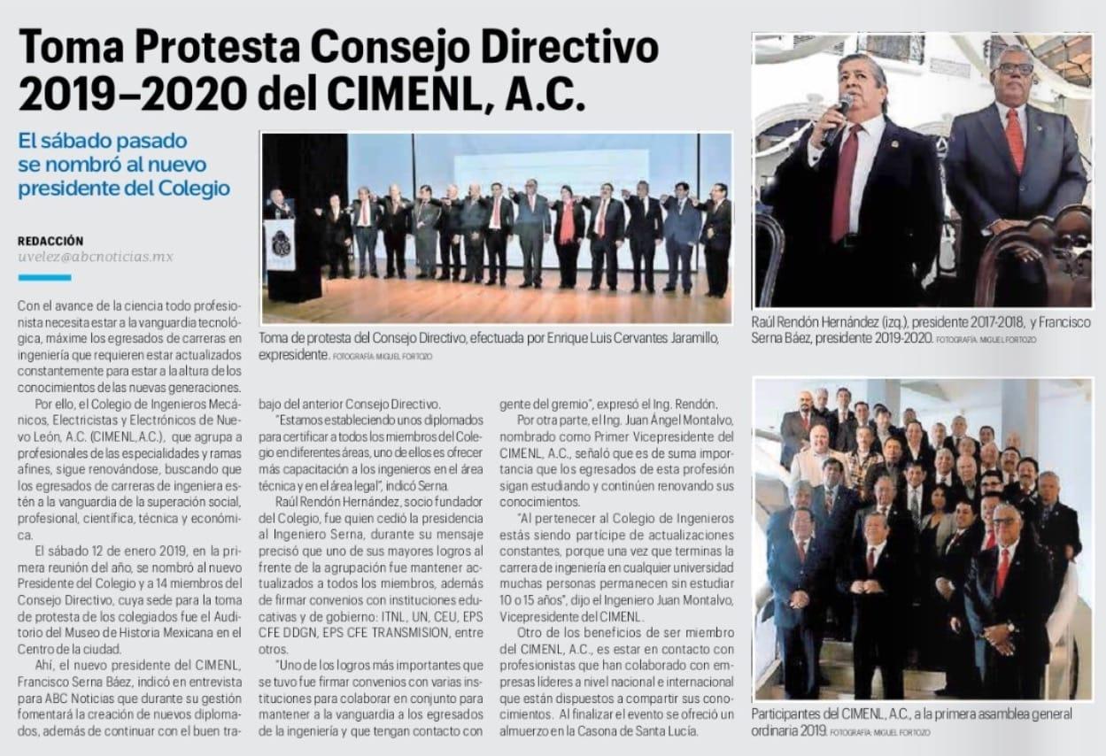 Foto Toma De Protesta Del Nuevo COnsejo
