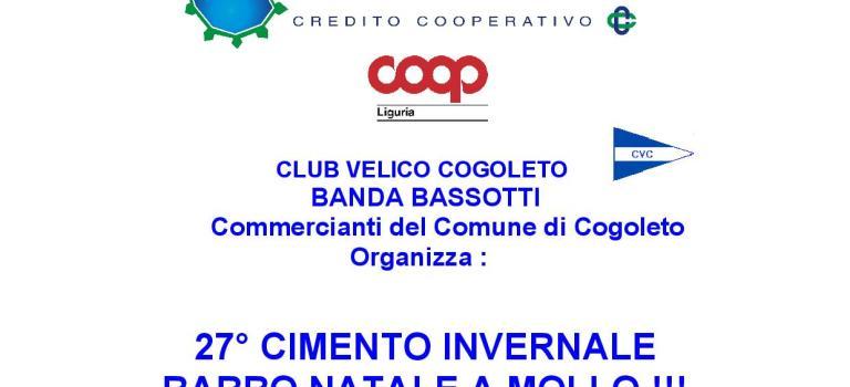 Domenica A Cogoleto torna il 27° CIMENTO INVERNALE BABBO NATALE A MOLLO !!