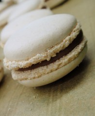 almond macarons with passion fruit filling