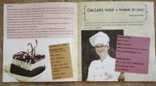 chocolate cake with horseradish and beet