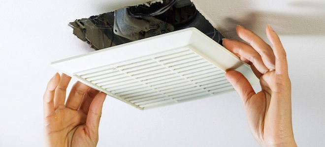 how to remove a bathroom vent fan cover