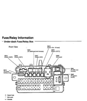 Honda Civic Del Sol Fuse Box Diagrams  HondaTech