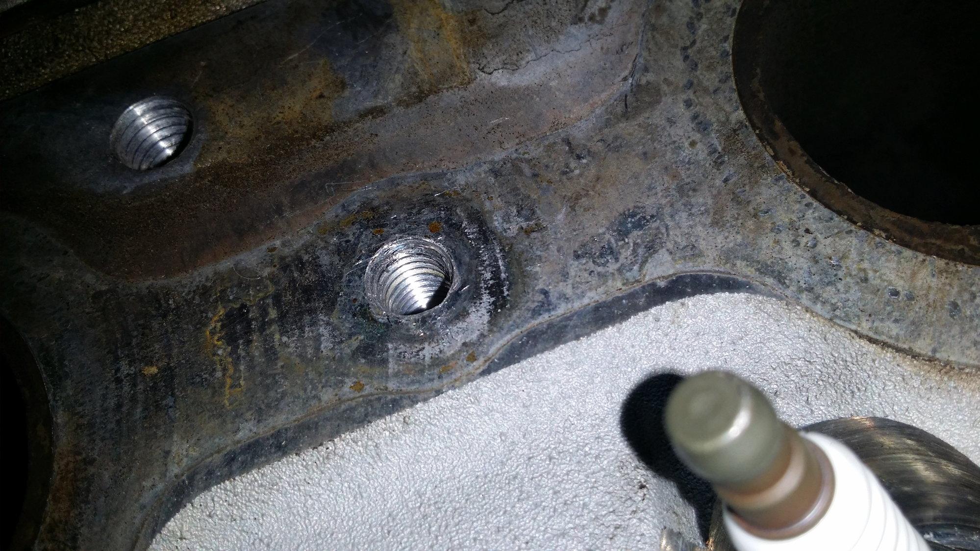 cross threaded exhaust manifold bolts