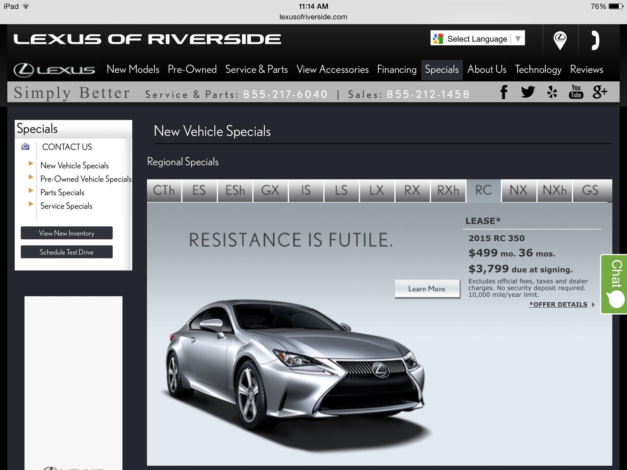 RC 350 F Sport Lease Help ClubLexus Lexus Forum Discussion