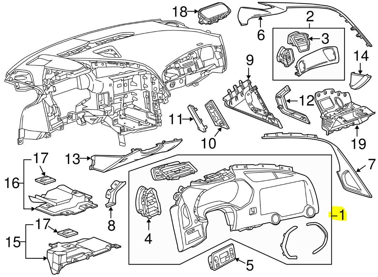Fs For Sale New Corvette C7 Oem Instrument