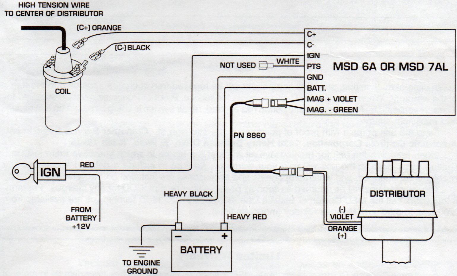 Chevy Msd Distributor Wiring Diagram