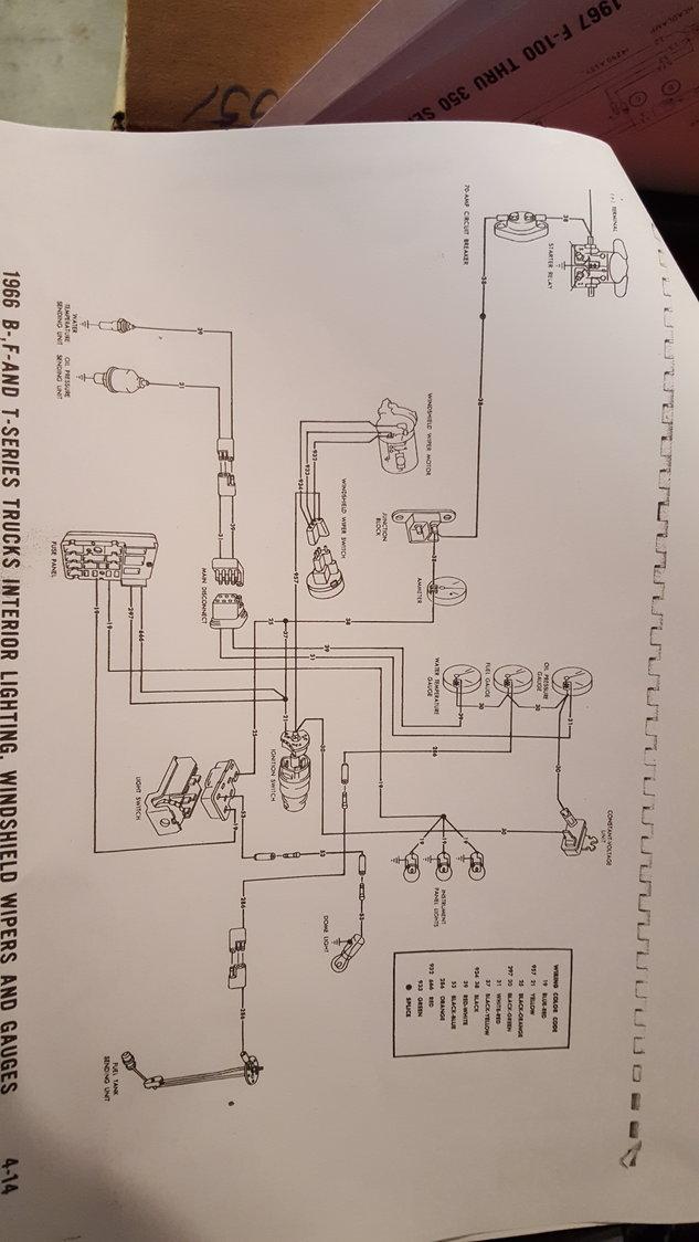 F100 Instrument Cluster Wire Diagram