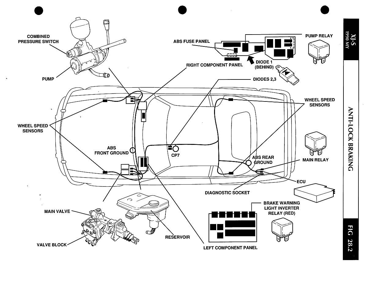 service manual  1993 jaguar xj series manual wiring sch