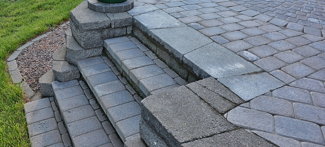 How To Build Stone Porch Steps In 5 Steps Doityourself Com | Outside Steps For Seniors | Dreamstime | Stair Treads | Handrail | Stainless Steel | Walkway
