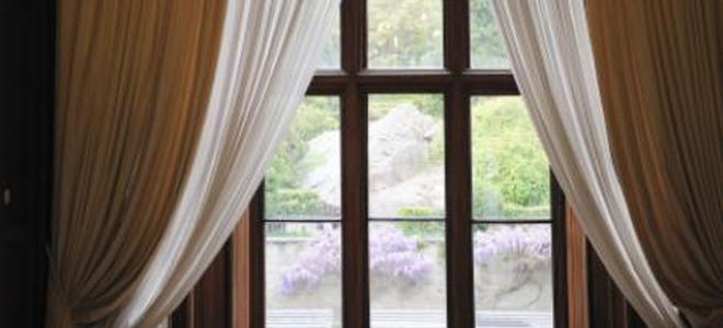how to install double curtain rods