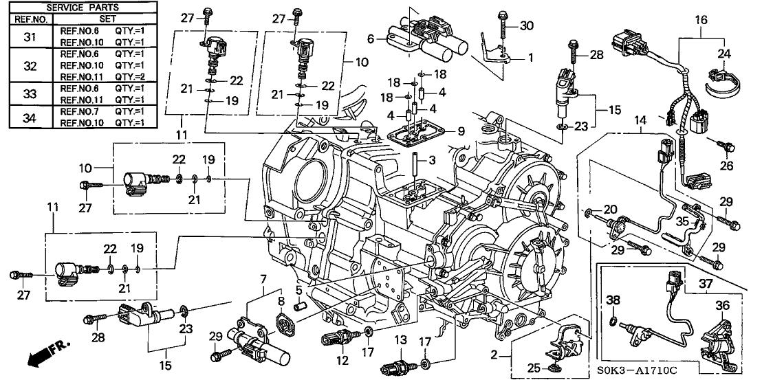 Diagram 99 Acura Engine Tl