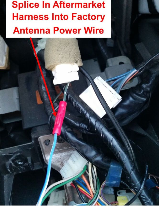 I Rewired The Blue Antenna Adaptor Wire To Yellow Radio So That It Won T Get Any Current When Car Isn Running