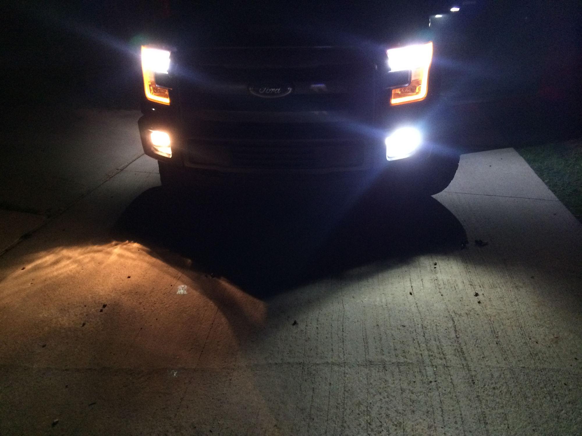 Fog Lights Replaced On 2015 Halogen Gt LED Ford F150