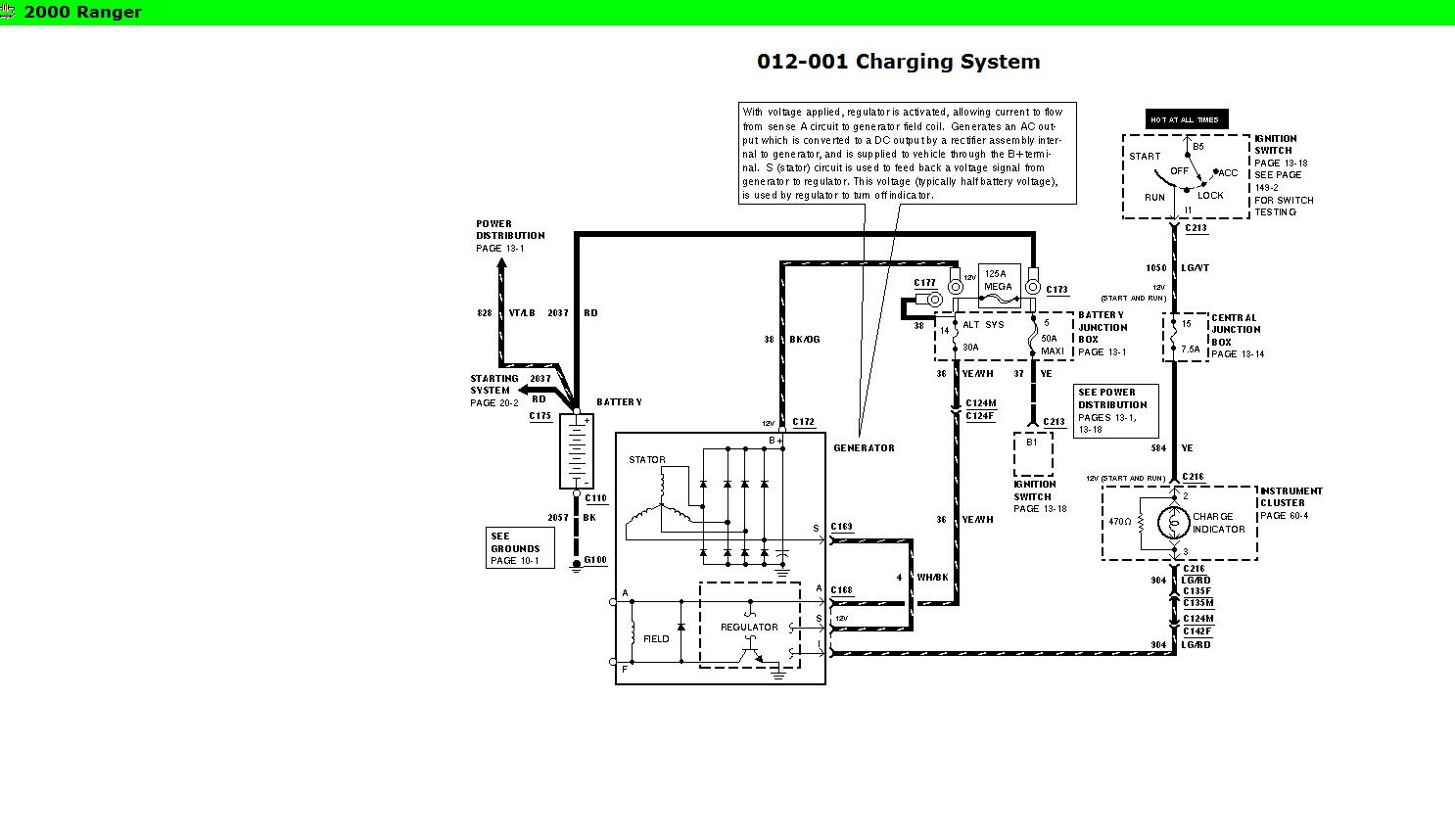 Ford Ranger Alternator Wiring