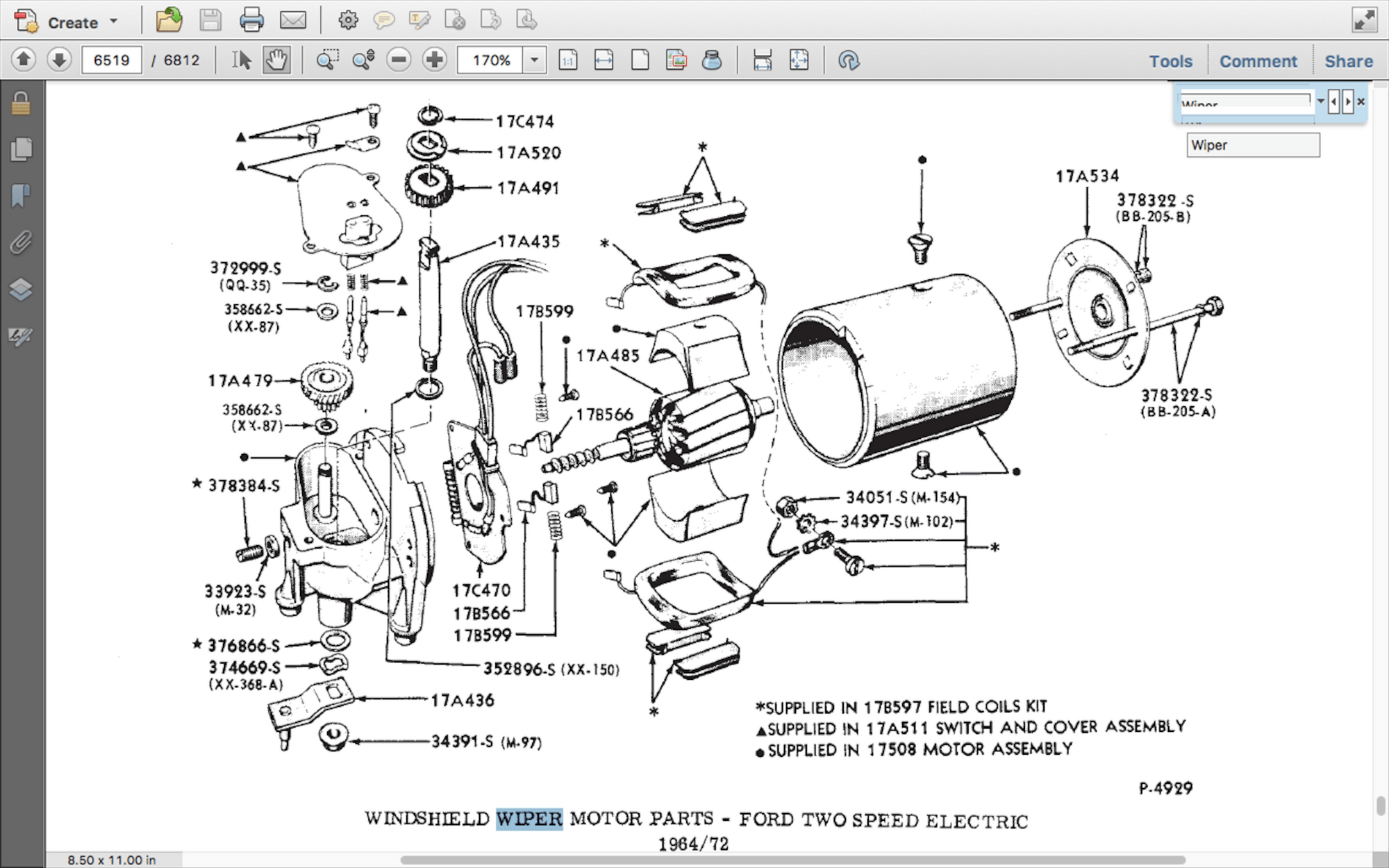 2 Speed Wiper Motor Wiring Schematic