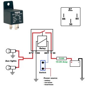 Wiring diagram for a 12V 40 Amp relay  Harley Davidson Forums