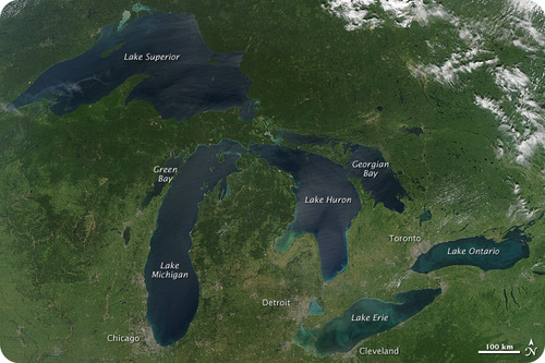 Great Lakes, No Cloud