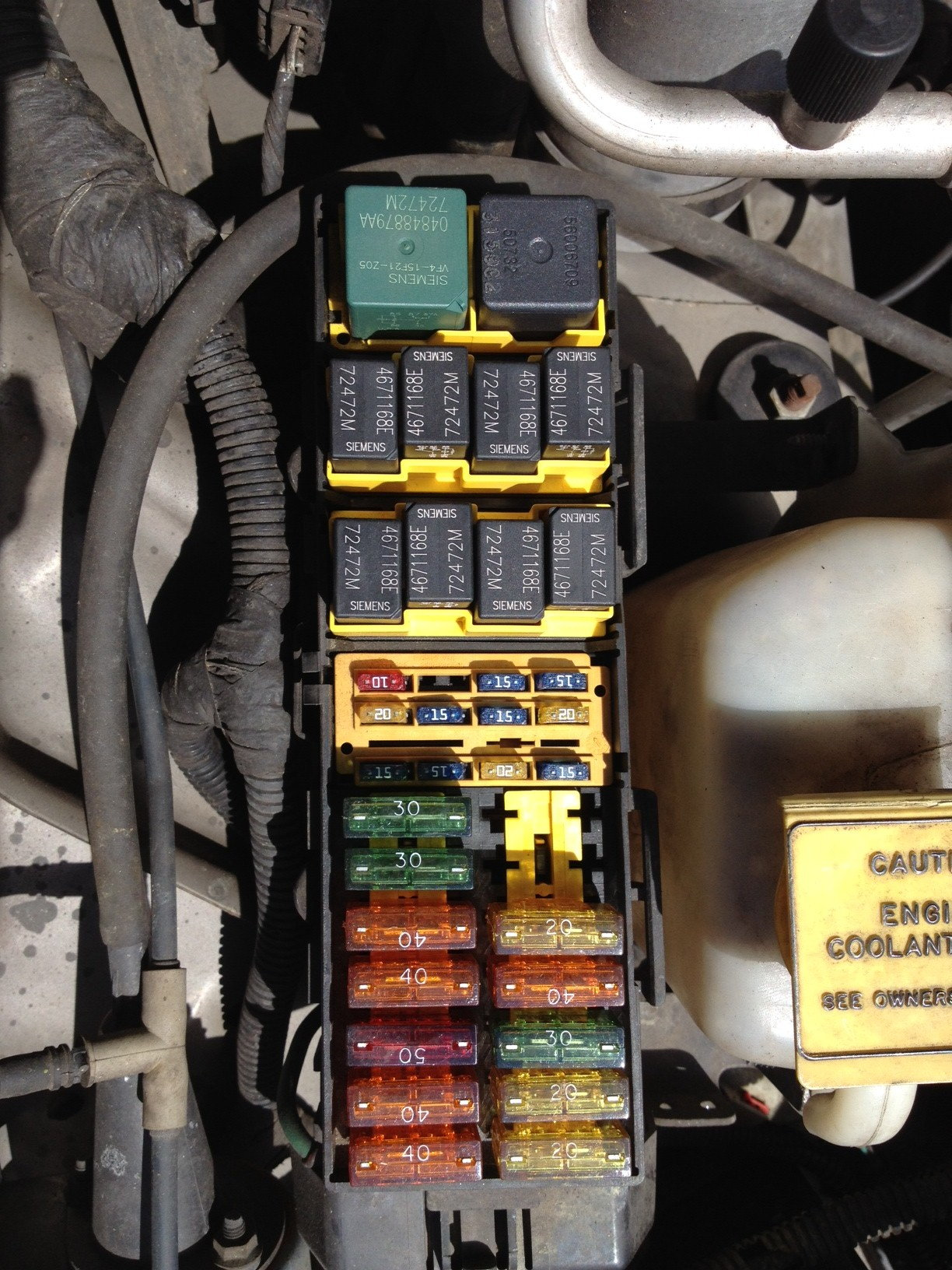 Jeep 1999 Box Cherokee Diagram Fuse