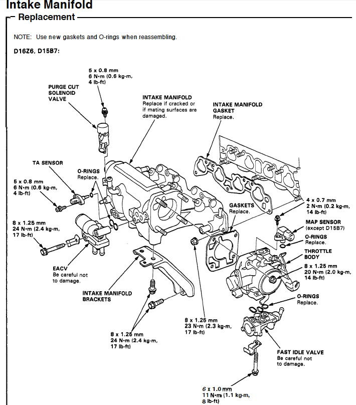 D15b7 Engine Diagram