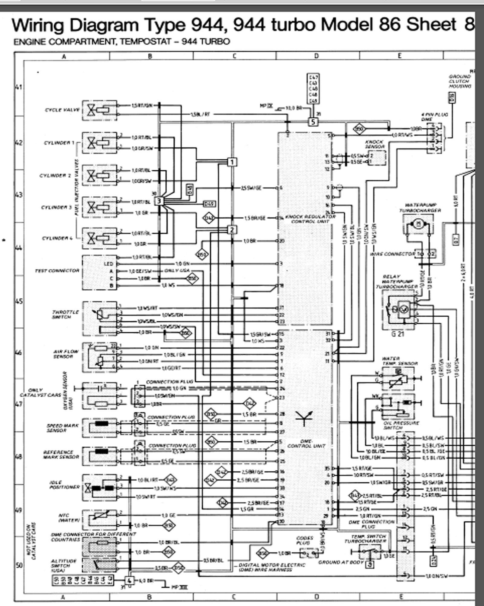 85 Porsche 944 Wiring Diagram - Wiring Diagrams Home on