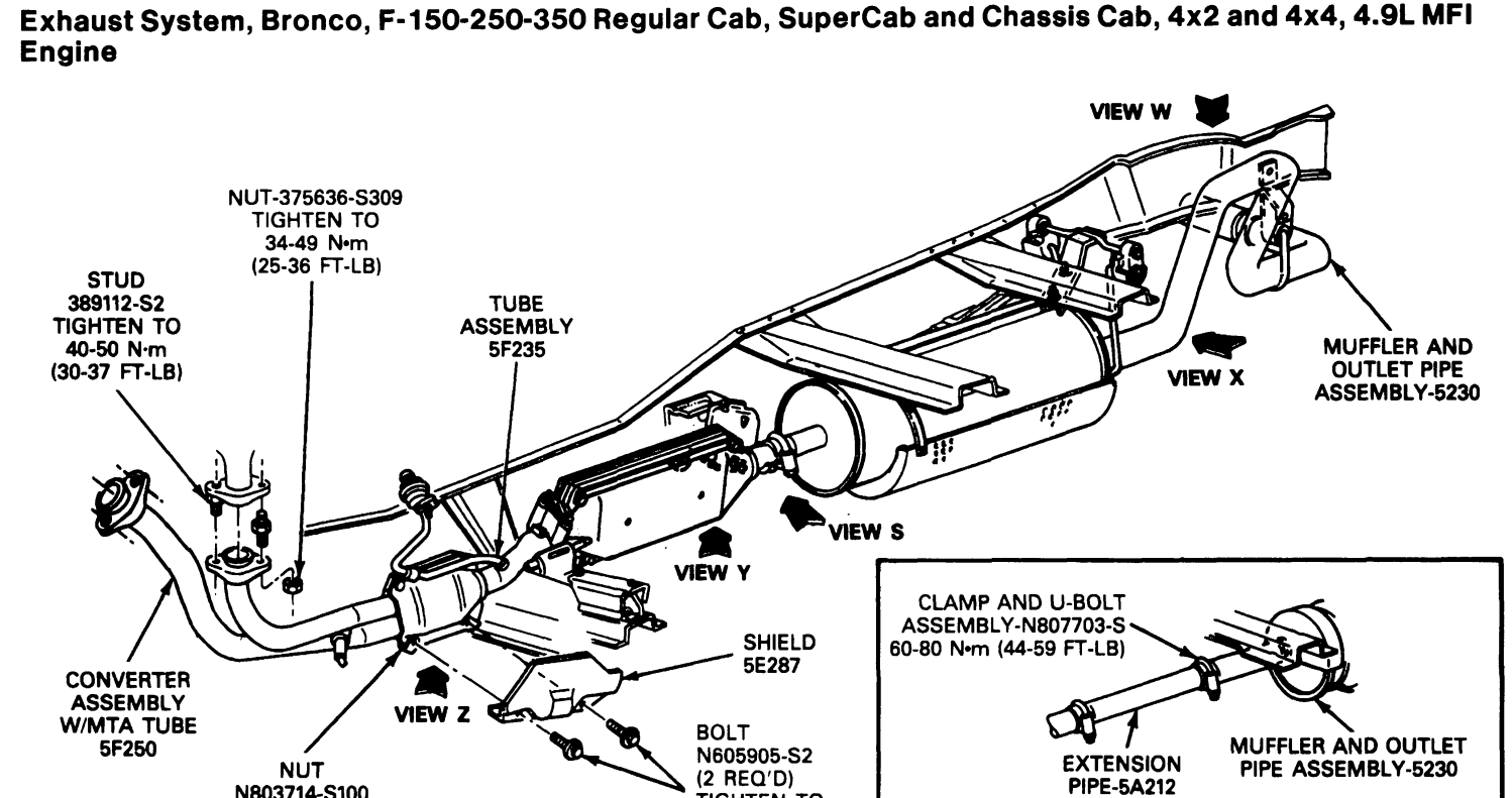 Ford Escape Exhaust Diagram
