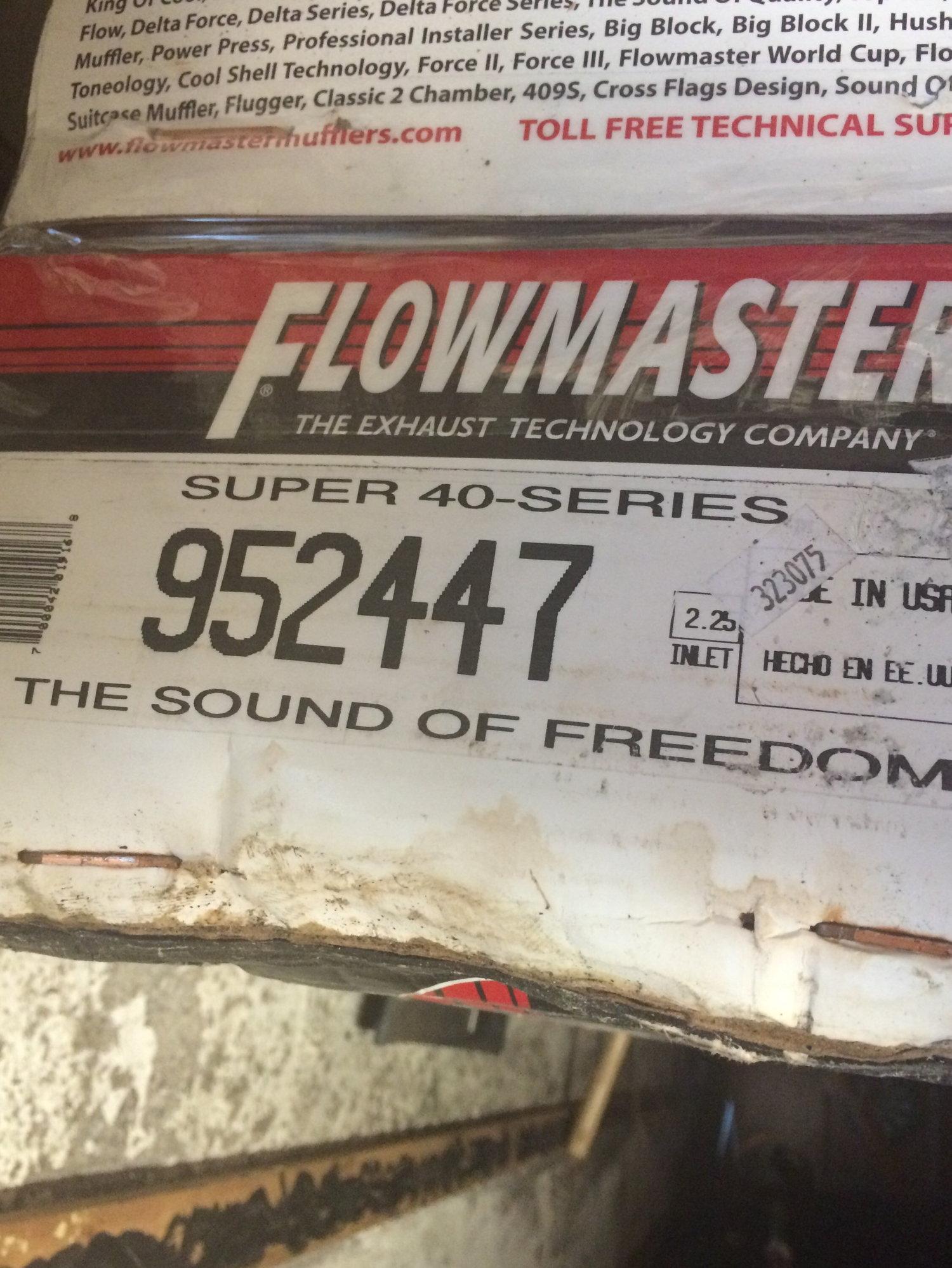 flowmaster super 40 muffler 2 25 c o