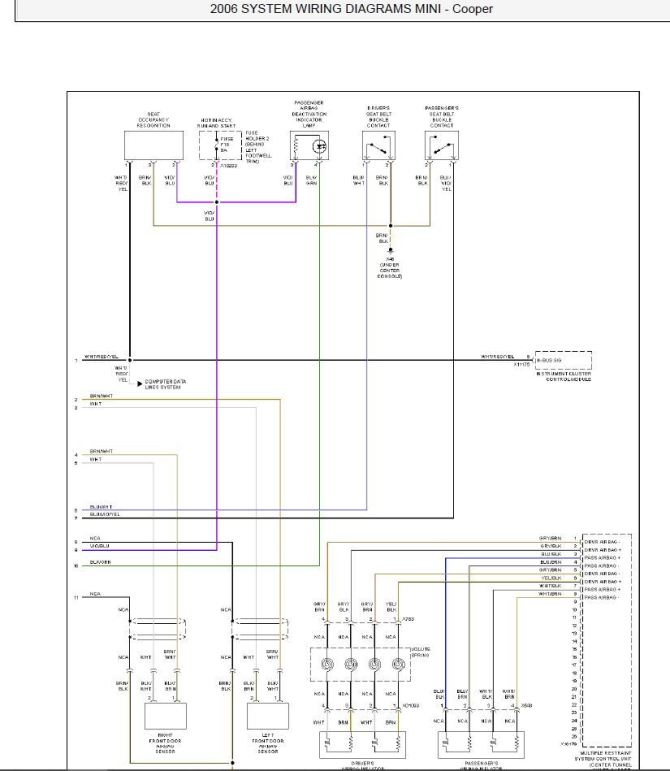 supplemental restraints circuit wiring diagram  north