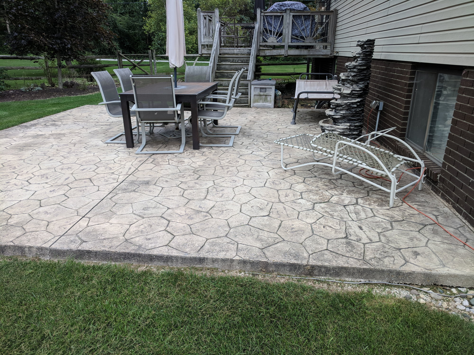 how to cover treat concrete patio and
