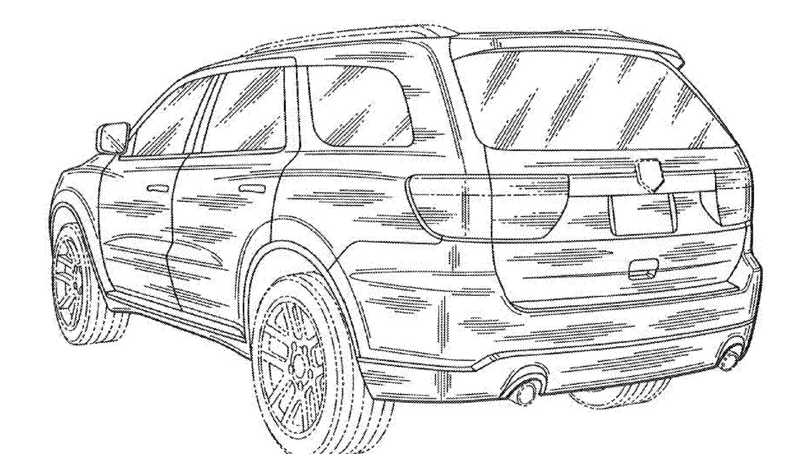Dodge Durango Magnum Images Leaked Via Uspto