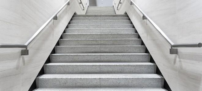 How To Install A Handrail On Concrete Steps Doityourself Com   Railing For Cement Steps   Precast Concrete   Redwood   Steep Outdoor Step   Commercial Concrete   Elderly