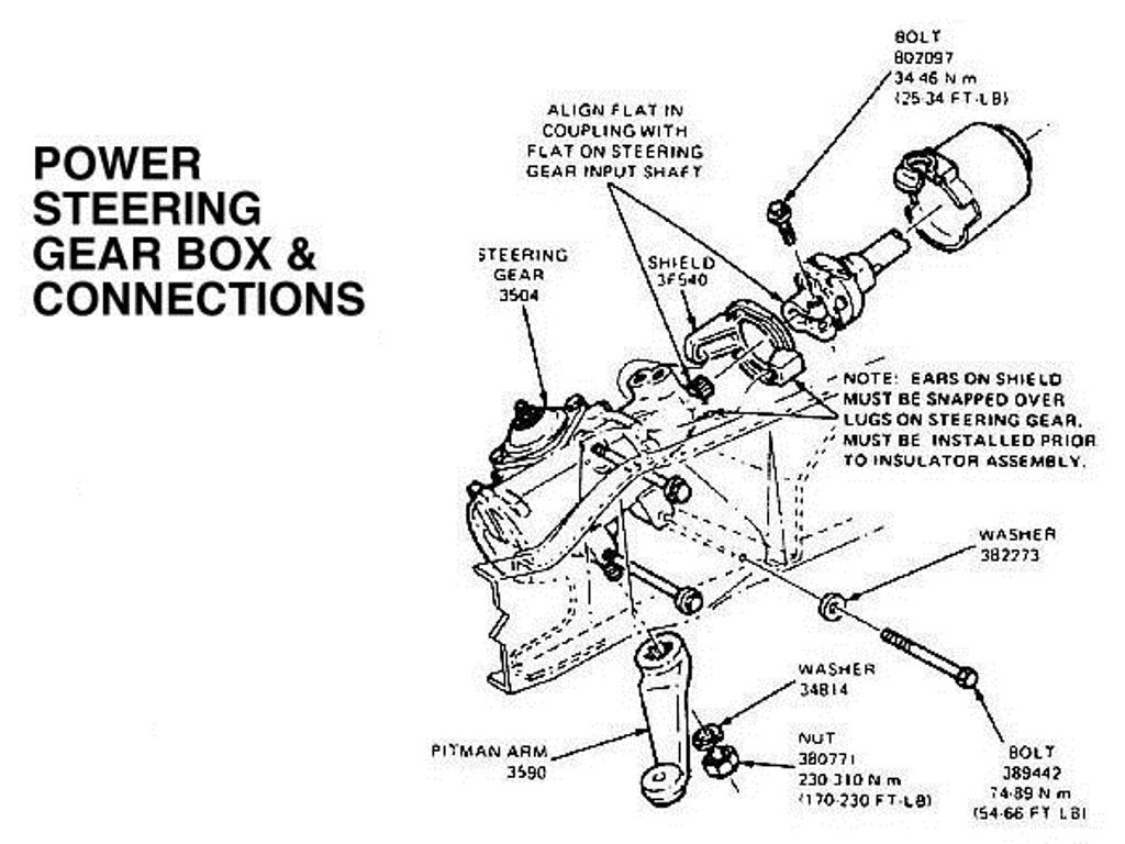 1994 ford bronco steering diagram