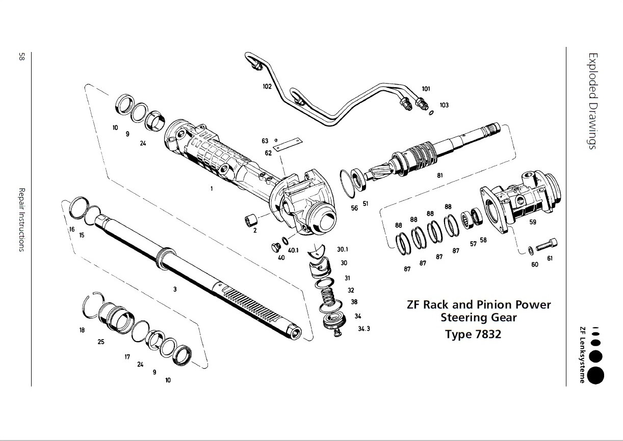 Rack And Pinion Parts Diagram