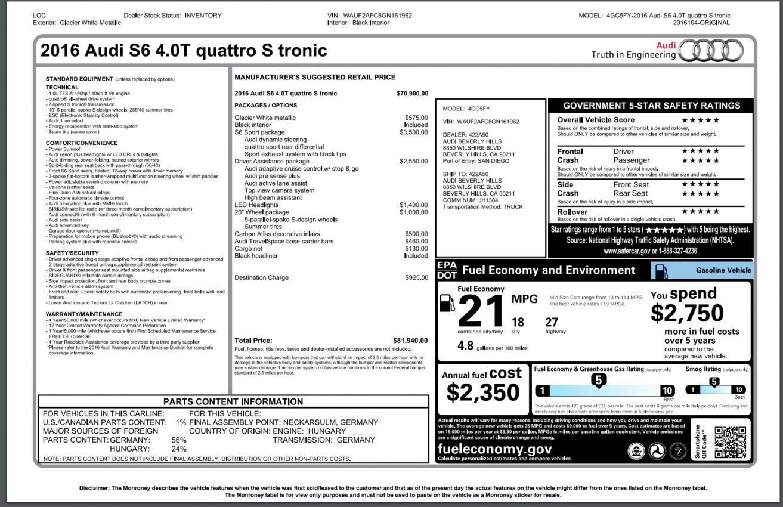 Audi A6 S6 P