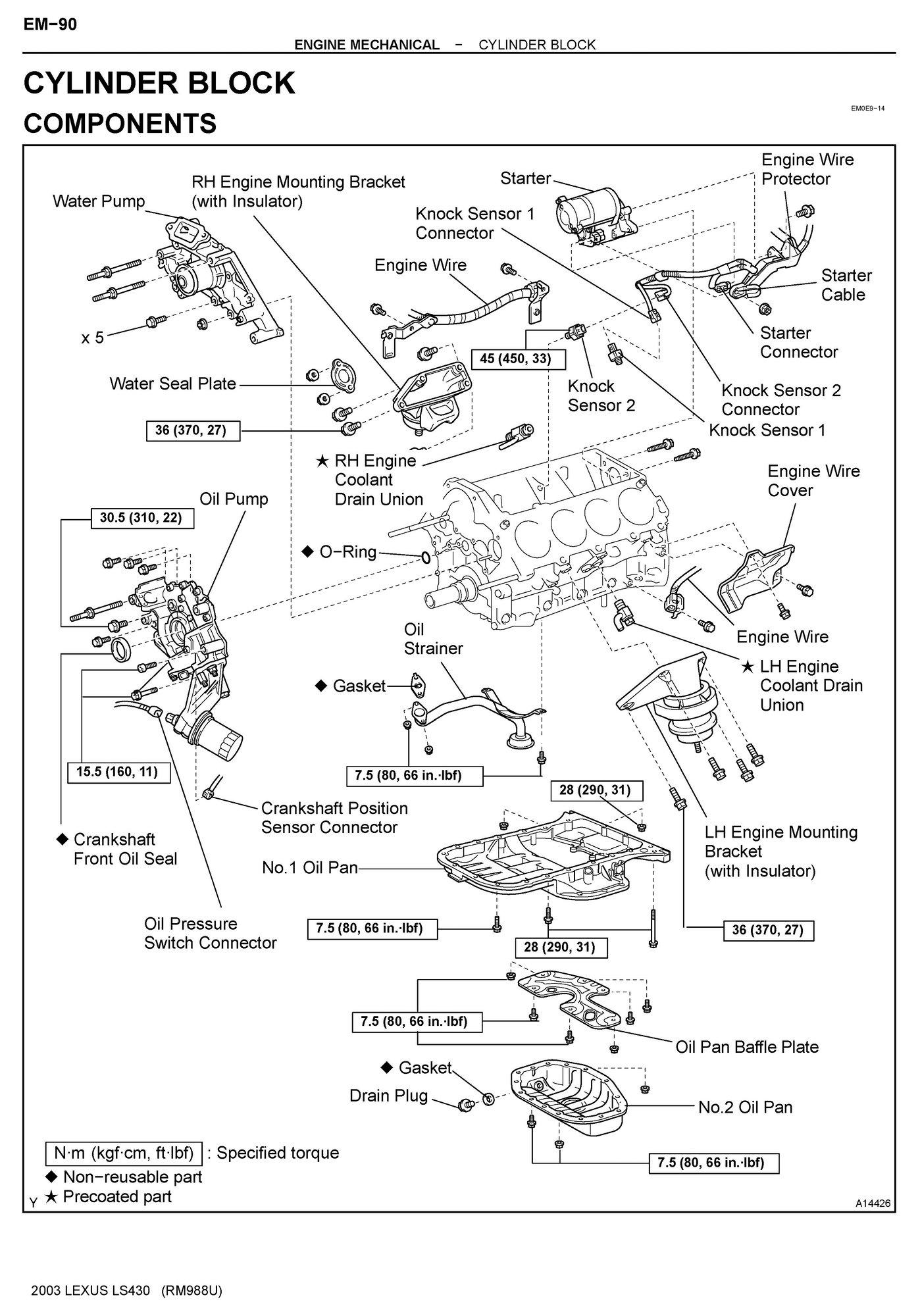 Lexu Engine Diagram